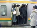 ラッシュ時の東海道線(関東)