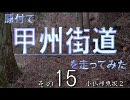 【ニコニコ動画】原付で甲州街道を走ってみた(その15)小仏峠東坂2を解析してみた