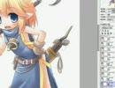 【お絵かき】saiで妖精さんを描いてみた 線画→彩色