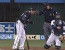 【ニコニコ動画】キャッチャー上本が投げた返球が、大松の頭部へを解析してみた