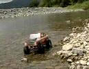 河原でRC Rock Crawling