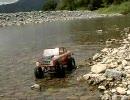 河原でRC Rock Crawling