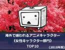 【ニコニコ動画】【2010年版】海外で嫌われている女性アニメキャラクターTOP10