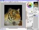 SAIでトラを描いてみた