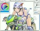 Gimp@Linuxで描いてみた2・色塗り編