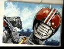 【アクリルガッシュ】仮面ライダーBLACKを描いてみた【アナログ】 thumbnail