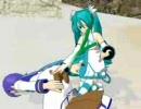 miku和kaito在海邊打架