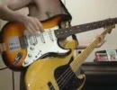 【ニコニコ動画】【みつどもえ】みっつ数えて大集合!をギターとベースで弾いてみたが・・を解析してみた