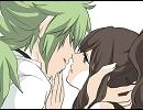 【手描き】N×BW♀主人公でキス唾