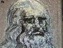 「釘」を使ってレオナルド・ダ・ヴィンチを描く