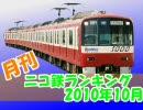 【A列車で行こう】 月刊ニコ鉄動画ランキング2010年10月版