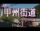 【ニコニコ動画】原付で甲州街道を走ってみた(その23)底沢2を解析してみた