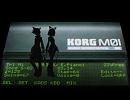 【鏡音リン・レン全員】KORG M01 で円周率1000桁に挑戦【オリ...