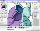 【SAI】マウスでニドラン♂♀を描いてみた【ポケモン】