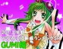 2011上半期VOCALOID新曲ランキングSP GUMI編