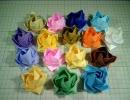 折り紙でバラを折ってみた
