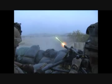 軍事】M2重機関銃 曳光弾射撃 - ...