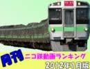 【A列車で行こう】 月刊 ニコ鉄動画ランキング2012年度1月版