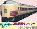 【A列車で行こう】 月刊ニコ鉄動画ランキング2012年度2月版