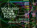 VOCALOID/UTAU系タグ検索PICKUP 2012/4/2