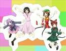 【東方】兎と猫で「(」・ω・)」うー!(/・ω・)/にゃー!」【手書き】