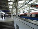 20120407 昼13時でも忙しい横浜駅【横須賀線ホーム】