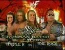 【WWE】(アイアンマンマッチ) ザ・ロック vs HHH 1/3【プロレス】