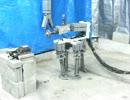 水圧軟体筋肉ロボット:P15:四足歩行:研削:サンポート.MOV