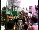 山あげ祭2010豪雨の中の「ブンヌキ」