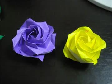 ハート 折り紙:折り紙でバラ-nicovideo.jp