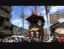 京都祇園祭2012 狭い新町通りに入り、すぐ目の前を通過する長刀鉾