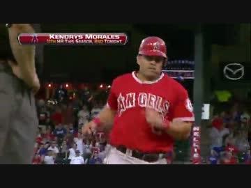 MLB モラレスの1イニング左右両...