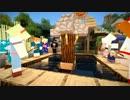 【Minecraft】ある街の夏祭り 麺がどんどん流れる!流しそうめん大会! thumbnail