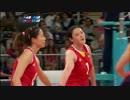 【ニコニコ動画】ロンドンオリンピック女子バレー 日本×中国 05/16 第二セットを解析してみた