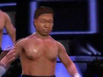 WWE'13 北尾光司&黒師無双 vs ...