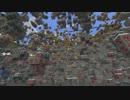 【Minecraft】鉱石だけ残して岩盤整地したらこうなった【ゆっくり実況】
