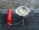 MSRドラゴンフライで鍋焼きうどん