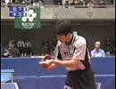 【ニコニコ動画】[卓球] 松下浩二 VS 木方慎之介 [カットマン]を解析してみた