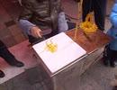 中国のある街頭の小さい食品の制作過程