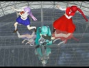 【MMD】七葉&東方「残酷な天使のテーゼパラパラ+オタ」