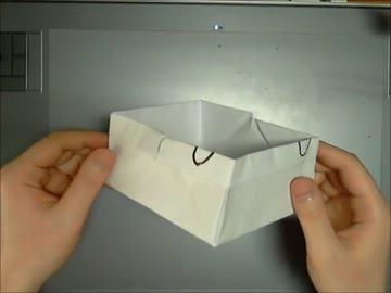 ハート 折り紙:折り紙 箱 長方形の紙-nicozon.net