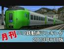 【A列車で行こう】月刊ニコ鉄動画ランキング2013年6月版