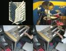【ニコニコ動画】エレクトーンとドラムで紅蓮の弓矢と自由の翼を繋げて弾いてみたを解析してみた