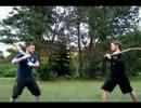 【西洋武術】中世農民の格闘術実演【棍棒・鎌】