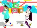 【UTAU MMD】カラフル×メロディ【螺旋音リボ×印音ヒナタ】