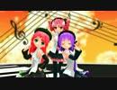 【MMD】UTAU3人娘・らぶ式ちび【 ハニハニダンス 】撮影してみました