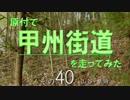 【ニコニコ動画】原付で甲州街道を走ってみた(その40)山谷-原田を解析してみた