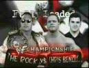 【WWE】(FullyLoaded2000) ザ・ロック vs クリス・ベノワ 1/2 【プロレス】