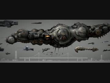 【Eve Online】 宇宙船大きさ比較