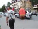 壮絶!熊と象のストリートファイト